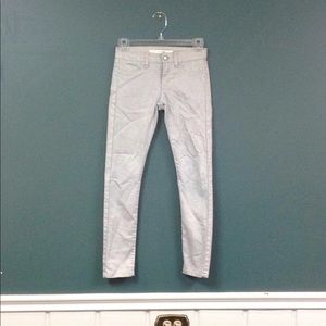Gray/ silver jeans